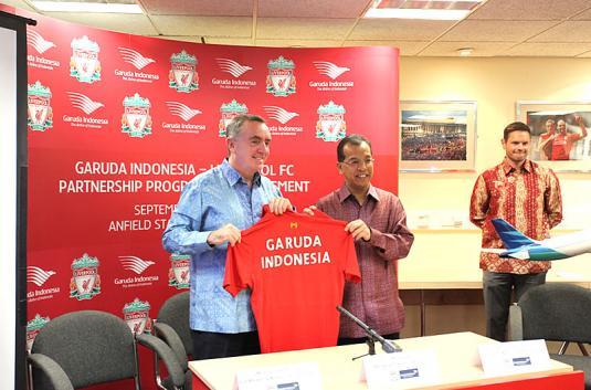 Logo Garuda Akan Ada di Jersey Liverpool