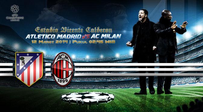 Prediksi Skor UEFA Champions League Atletico Madrid vs AC Milan 12 Maret 2014