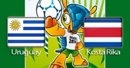 Prediksi SKOR Uruguay vs Costa Rica 15 Juni 2014