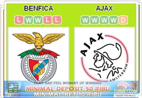 Prediksi Benfica vs Ajax |Berita Bola Terpercaya