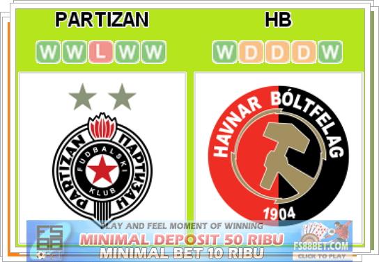 Prediksi Partizan Beograd vs HB Torshavn 16 Juli 2014