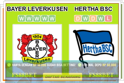 Prediksi Bayer Leverkusen vs Hertha Berlin | Agen Casino