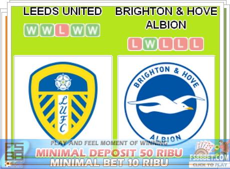 Prediksi Skor Leeds United vs Brighton Hove Albion
